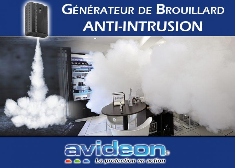 Générateur de brouillard anti intrusion